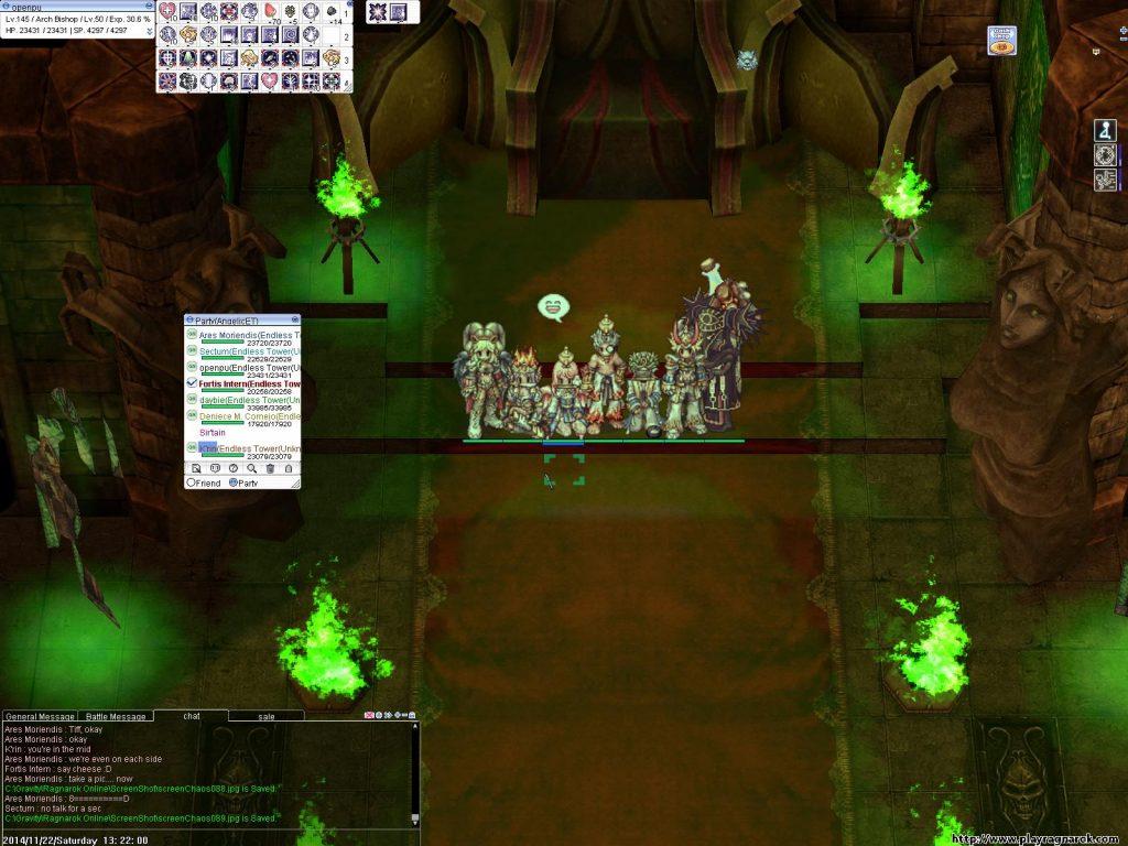 RO仙境傳說 - 和公會的大家一起打Endless Tower副本