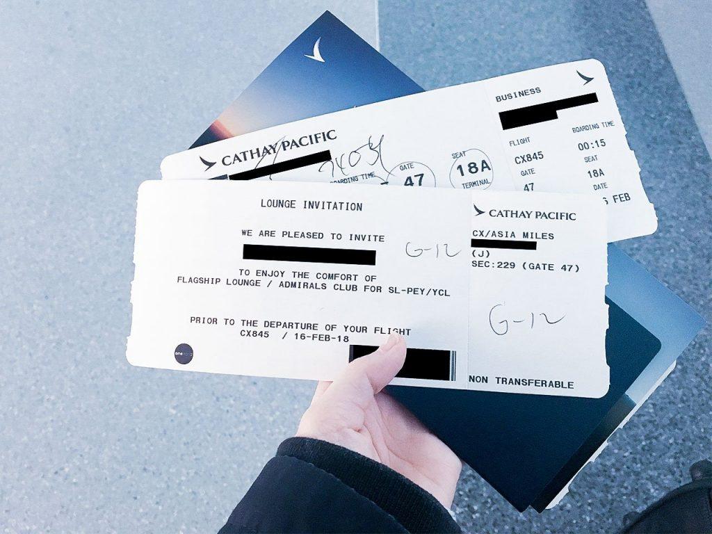 第一次點數換票的國泰商務艙